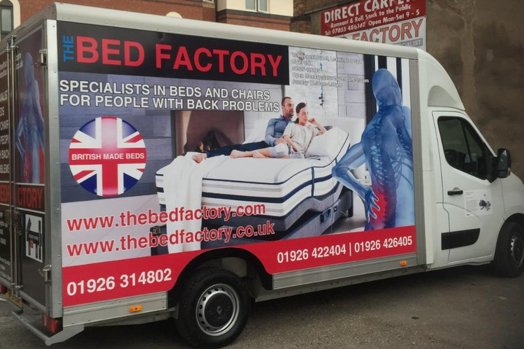 Delivery Van at The Bed Factory